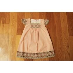 Vestido Rayitas Coral