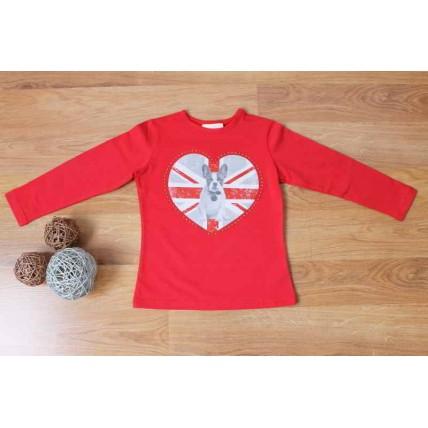 Camiseta de niña con corazón