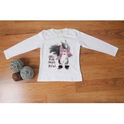 Camiseta de niña con ardilla