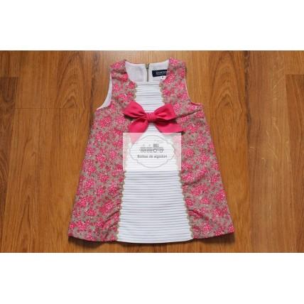 Vestido de niña combinado