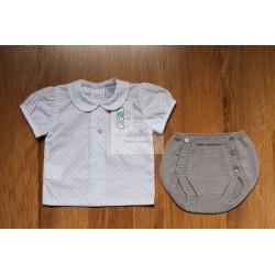 Conjunto camisa + braga de punto