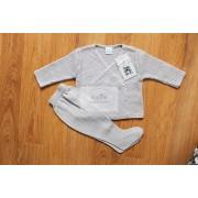 Conjunto bebé cruzado gris
